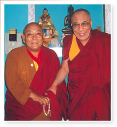 Bardok Chusang Rinpoche with H.H. the Dalai Lama
