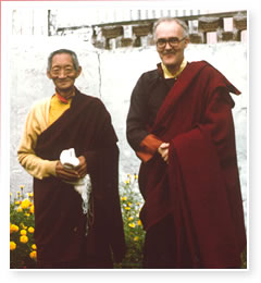 Kalu Rinpoche and Namgyal Rinpoche