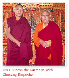 His Holiness the Karmapa with Chusang Rinpoche