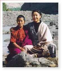 Khandro Tinley Chodon (R) and friend